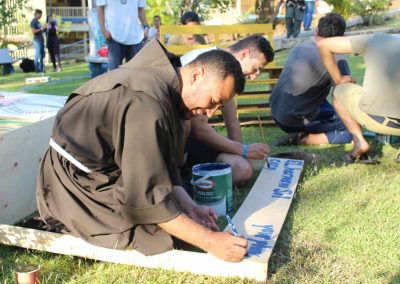 painting with smiles and friars WYD